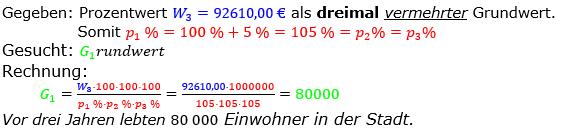 Prozentrechnung Grundwert Lösungen zum Aufgabensatz 06 Blatt 2/2 Fortgeschritten Bild 1/© by www.fit-in-mathe-online.de