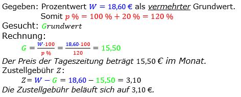 Prozentrechnung Grundwert Lösungen zum Aufgabensatz 09 Blatt 2/2 Fortgeschritten Bild 1/© by www.fit-in-mathe-online.de