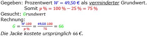 Prozentrechnung Grundwert Lösungen zum Aufgabensatz 11 Blatt 2/2 Fortgeschritten Bild 1/© by www.fit-in-mathe-online.de