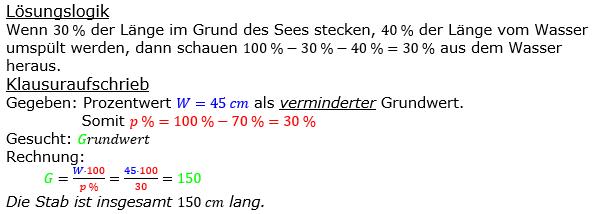 Prozentrechnung Grundwert Lösungen zum Aufgabensatz 12 Blatt 2/2 Fortgeschritten Bild 1/© by www.fit-in-mathe-online.de