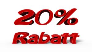 'Alles um 20 % reduziert' wirbt ein Modehaus zum Saisonschluss. (Grafik W0005 im WIKI zum  Grundweert in der Prozentrechnung) /© by www.fit-in-mathe-online.de)