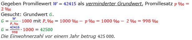 Promillerechnung Lösungen zum Aufgabensatz 2 Blatt 1/2 Grundlagen Bild 1/© by www.fit-in-mathe-online.de