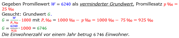 Promillerechnung Lösungen zum Aufgabensatz 6 Blatt 1/2 Grundlagen Bild 1/© by www.fit-in-mathe-online.de