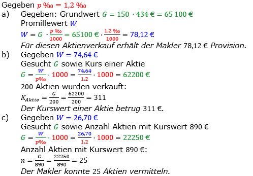 Promillerechnung Lösungen zum Aufgabensatz 4 Blatt 2/1 Fortgeschritten Bild 1/© by www.fit-in-mathe-online.de