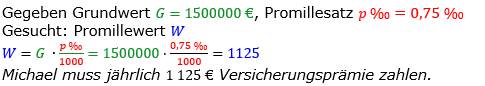 Promillerechnung Lösungen zum Aufgabensatz 1 Blatt 2/2 Fortgeschritten Bild 1/© by www.fit-in-mathe-online.de