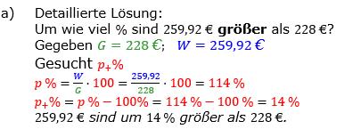Prozentrechnung Prozentsatz Lösungen zum Aufgabensatz 2 Blatt 1/2 Grundlagen Bild 1/© by www.fit-in-mathe-online.de