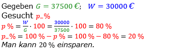 Prozentrechnung Prozentsatz Lösungen zum Aufgabensatz 11 Blatt 1/2 Grundlagen Bild 1/© by www.fit-in-mathe-online.de