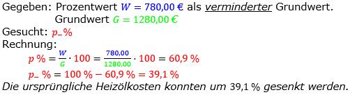 Prozentrechnung Prozentsatz Lösungen zum Aufgabensatz 02 Blatt 2/2 Fortgeschritten Bild 1/© by www.fit-in-mathe-online.de