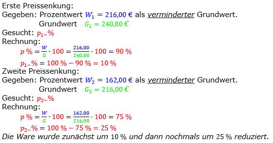Prozentrechnung Prozentsatz Lösungen zum Aufgabensatz 03 Blatt 2/2 Fortgeschritten Bild 1/© by www.fit-in-mathe-online.de
