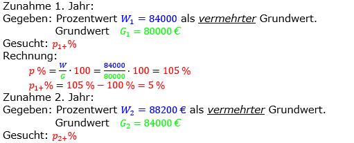 Prozentrechnung Prozentsatz Lösungen zum Aufgabensatz 06 Blatt 2/2 Fortgeschritten Bild 1/© by www.fit-in-mathe-online.de