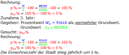 Prozentrechnung Prozentsatz Lösungen zum Aufgabensatz 06 Blatt 2/2 Fortgeschritten Bild 2/© by www.fit-in-mathe-online.de