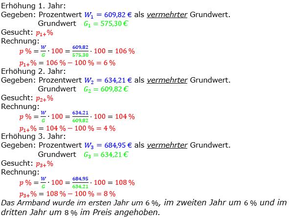 Prozentrechnung Prozentsatz Lösungen zum Aufgabensatz 07 Blatt 2/2 Fortgeschritten Bild 1/© by www.fit-in-mathe-online.de