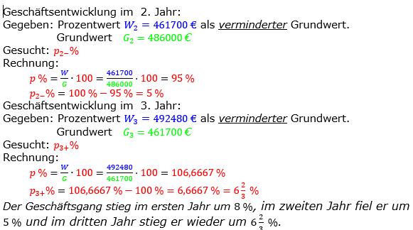 Prozentrechnung Prozentsatz Lösungen zum Aufgabensatz 08 Blatt 2/2 Fortgeschritten Bild 2/© by www.fit-in-mathe-online.de