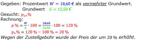 Prozentrechnung Prozentsatz Lösungen zum Aufgabensatz 09 Blatt 2/2 Fortgeschritten Bild 1/© by www.fit-in-mathe-online.de