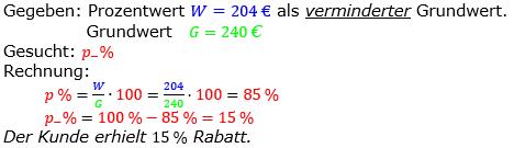 Prozentrechnung Prozentsatz Lösungen zum Aufgabensatz 10 Blatt 2/2 Fortgeschritten Bild 1/© by www.fit-in-mathe-online.de