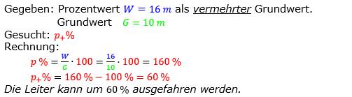 Prozentrechnung Prozentsatz Lösungen zum Aufgabensatz 13 Blatt 2/2 Fortgeschritten Bild 1/© by www.fit-in-mathe-online.de
