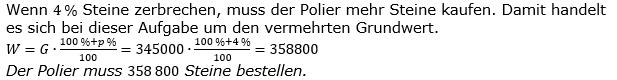 Prozentrechnung Prozentwert Lösungen zum Aufgabensatz 6 Blatt 1/2 Grundlagen Bild 1/© by www.fit-in-mathe-online.de