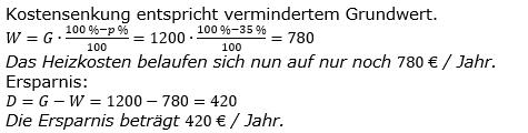 Prozentrechnung Prozentwert Lösungen zum Aufgabensatz 11 Blatt 1/2 Grundlagen Bild 1/© by www.fit-in-mathe-online.de