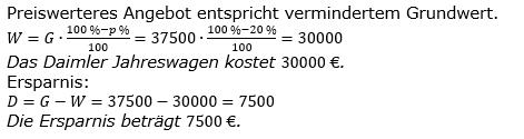 Prozentrechnung Prozentwert Lösungen zum Aufgabensatz 12 Blatt 1/2 Grundlagen Bild 1/© by www.fit-in-mathe-online.de