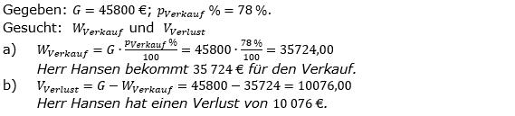 Prozentrechnung Prozentwert Lösungen zum Aufgabensatz 2 Blatt 2/1 Fortgeschritten Bild 1/© by www.fit-in-mathe-online.de