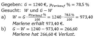 Prozentrechnung Prozentwert Lösungen zum Aufgabensatz 10 Blatt 2/1 Fortgeschritten Bild 1/© by www.fit-in-mathe-online.de