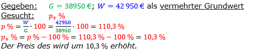 Vermischte Aufgaben der Prozentrechnung Aufgabenblatt 1 Aufgabensatz 05 Bild A1105L01 Lösung Bild 1 /© by www.fit-in-mathe-online.de