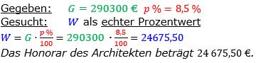 Vermischte Aufgaben der Prozentrechnung Aufgabenblatt 1 Aufgabensatz 11 Bild A1111L01 Lösung Bild 1 /© by www.fit-in-mathe-online.de