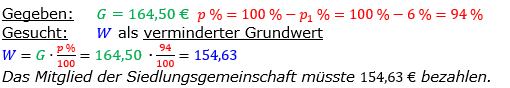 Vermischte Aufgaben der Prozentrechnung Aufgabenblatt 1 Aufgabensatz 14 Bild A1114L01 Lösung Bild 1 /© by www.fit-in-mathe-online.de