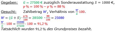 Vermischte Aufgaben der Prozentrechnung Aufgabenblatt 1 Aufgabensatz 18 Bild A1118L01 Lösung Bild 1 /© by www.fit-in-mathe-online.de