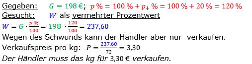 Vermischte Aufgaben der Prozentrechnung Aufgabenblatt 2 Aufgabensatz 02 Bild A1202L01 Lösung Bild 1 /© by www.fit-in-mathe-online.de