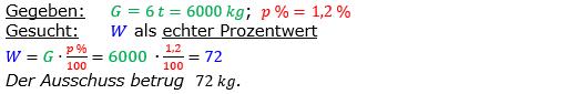 Vermischte Aufgaben der Prozentrechnung Aufgabenblatt 2 Aufgabensatz 07 Bild A1207L01 Lösung Bild 1 /© by www.fit-in-mathe-online.de