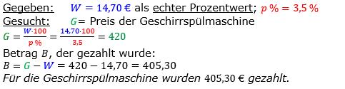 Vermischte Aufgaben der Prozentrechnung Aufgabenblatt 2 Aufgabensatz 11 Bild A1211L01 Lösung Bild 1 /© by www.fit-in-mathe-online.de