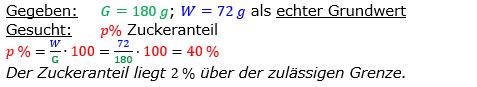 Vermischte Aufgaben der Prozentrechnung Aufgabenblatt 2 Aufgabensatz 13 Bild A1213L01 Lösung Bild 1 /© by www.fit-in-mathe-online.de