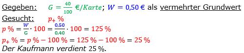 Vermischte Aufgaben der Prozentrechnung Aufgabenblatt 2 Aufgabensatz 15 Bild A1215L01 Lösung Bild 1 /© by www.fit-in-mathe-online.de