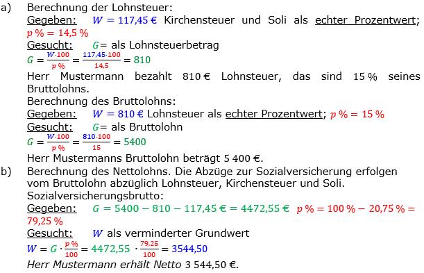 Vermischte Aufgaben der Prozentrechnung Aufgabenblatt 3 Aufgabensatz 11 Bild A1311L01 Lösung Bild 1 /© by www.fit-in-mathe-online.de
