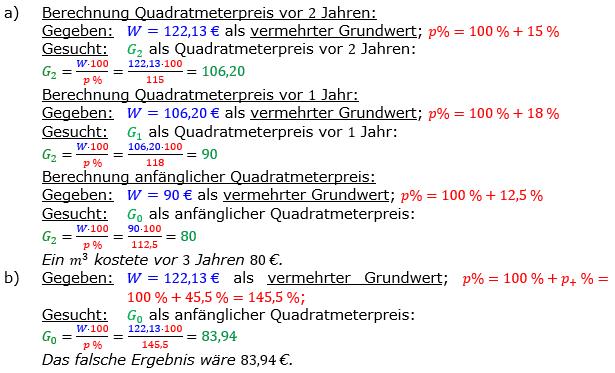 Vermischte Aufgaben der Prozentrechnung Aufgabenblatt 3 Aufgabensatz 20 Bild A1320L01 Lösung Bild 1 /© by www.fit-in-mathe-online.de