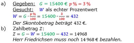 Vermischte Aufgaben der Prozentrechnung Aufgabenblatt 4 Aufgabensatz 01 Bild A1401L01 Lösung Bild 1 /© by www.fit-in-mathe-online.de