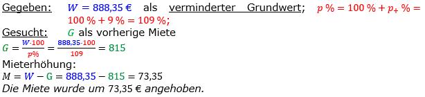 Vermischte Aufgaben der Prozentrechnung Aufgabenblatt 5 Aufgabensatz 13 Bild A1513L01 Lösung Bild 1 /© by www.fit-in-mathe-online.de