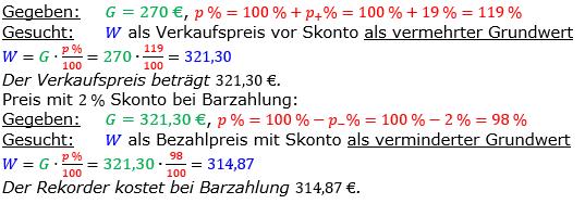 Vermischte Aufgaben der Prozentrechnung Aufgabenblatt 5 Aufgabensatz 16 Bild A1516L01 Lösung Bild 1 /© by www.fit-in-mathe-online.de
