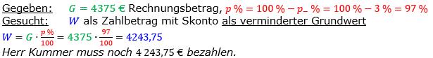 Vermischte Aufgaben der Prozentrechnung Aufgabenblatt 6 Aufgabensatz 07 Bild A1607L01 Lösung Bild 1 /© by www.fit-in-mathe-online.de