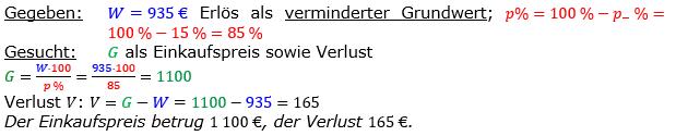 Vermischte Aufgaben der Prozentrechnung Aufgabenblatt 7 Aufgabensatz 09 Bild A1709L01 Lösung Bild 1 /© by www.fit-in-mathe-online.de