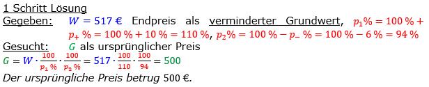Vermischte Aufgaben der Prozentrechnung Aufgabenblatt 8 Aufgabensatz 03 Bild A1803L01 Lösung Bild 1 /© by www.fit-in-mathe-online.de