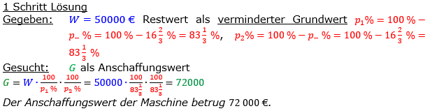 Vermischte Aufgaben der Prozentrechnung Aufgabenblatt 8 Aufgabensatz 07 Bild A1807L01 Lösung Bild 1 /© by www.fit-in-mathe-online.de