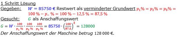 Vermischte Aufgaben der Prozentrechnung Aufgabenblatt 8 Aufgabensatz 08 Bild A1808L01 Lösung Bild 1 /© by www.fit-in-mathe-online.de