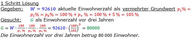 Vermischte Aufgaben der Prozentrechnung Aufgabenblatt 8 Aufgabensatz 09 Bild A1809L01 Lösung Bild 1 /© by www.fit-in-mathe-online.de