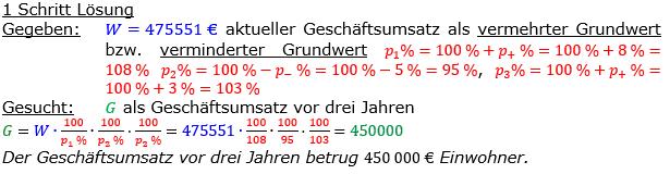 Vermischte Aufgaben der Prozentrechnung Aufgabenblatt 8 Aufgabensatz 10 Bild A1810L01 Lösung Bild 1 /© by www.fit-in-mathe-online.de