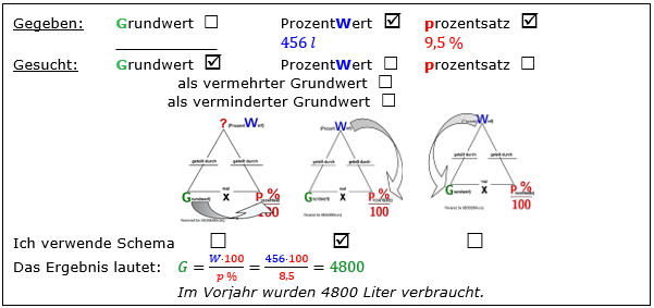 WIKI vermischte Aufgaben der Prozentrechnung Bild W00B3L01 Lösung Beispiel 3 /© by www.fit-in-mathe-online.de