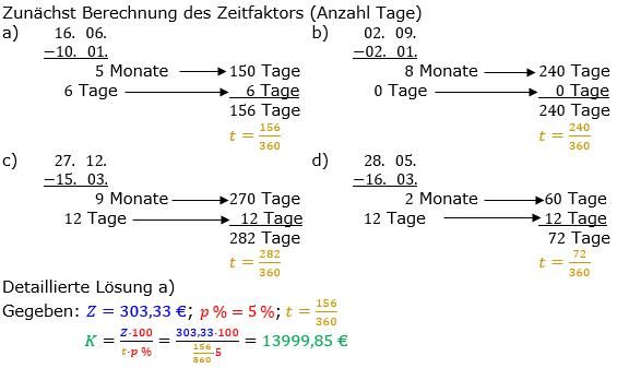 Zinsrechnung Kapital berechnen Lösungen zum Aufgabensatz 02 Blatt 2/2 Fortgeschritten Bild A2202L01/© by www.fit-in-mathe-online.de