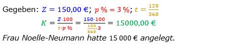 Zinsrechnung Kapital berechnen Lösungen zum Aufgabensatz 07 Blatt 2/2 Fortgeschritten Bild A2207L01/© by www.fit-in-mathe-online.de