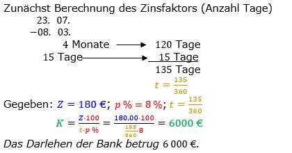Zinsrechnung Kapital berechnen Lösungen zum Aufgabensatz 09 Blatt 2/2 Fortgeschritten Bild A2209L01/© by www.fit-in-mathe-online.de